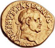 Aureus - Vespasianus (TR POT COS III) – obverse