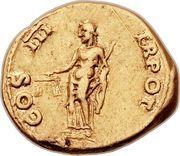 Aureus - Vespasianus (TR POT COS III) – reverse