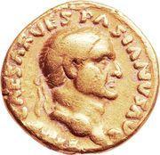Aureus - Vespasianus (COS I TER TR POT) – obverse