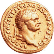 Aureus - Vespasianus (PRINCEPS IVVENTVTIS) – obverse