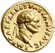 Aureus - Vespasianus (IVDAEA; Rome mint) – obverse