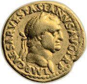 Aureus - Vespasianus (COS III FORT RED) – obverse