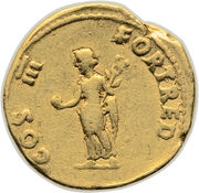 Aureus - Vespasianus (COS III FORT RED) – reverse