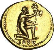 Aureus - Vespasianus (COS V) – reverse