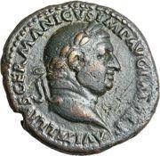 As - Vitellius (VICTOR AVG S C) – obverse