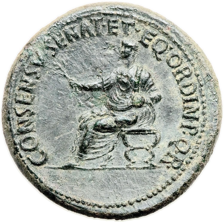 Dupondius - Augustus (CONSENSV SENAT ET EQ ORDIN P Q R