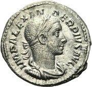 Denarius - Severus Alexander (IOVI PROPVGNATORI with Jupiter without eagle, cuirassed bust) – obverse