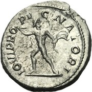 Denarius - Severus Alexander (IOVI PROPVGNATORI with Jupiter without eagle, cuirassed bust) – reverse