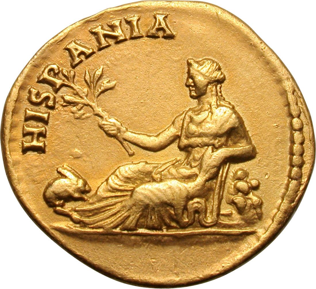 Aureus - Hadrianus (HISPANIA) - Rome (ancient) – Numista