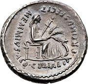Denarius (Memmia: Gaius Memmius; C•MEMMI•C•F QVIRINVS / MEMMIVS•AED•CERIALIA•PREIMVS•FECIT) – reverse