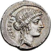 Denarius (Junia: Marcus Junius Brutus; LIBERTAS / BRVTVS) – obverse