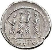 Denarius (Junia: Marcus Junius Brutus; LIBERTAS / BRVTVS) – reverse