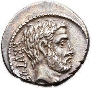 Denarius (Junia: Marcus Junius Brutus; BRVTVS / AHALA) – obverse