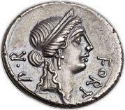 Denarius (Sicinia: Quintus Sicinius; FORT P•R / III•VIR Q•SICINIVS) – obverse