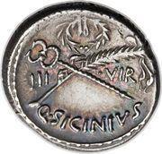Denarius (Sicinia: Quintus Sicinius; FORT P•R / III•VIR Q•SICINIVS) – reverse