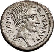 Denarius (Pompeia: Quintus Pompeius Rufus; SVLLA•COS / Q•POM•RVFI RVFVS•COS) – reverse