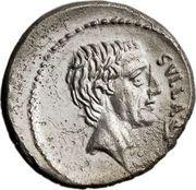 Denarius (Pompeia: Quintus Pompeius Rufus; SVLLA•COS / Q•POM•RVFI RVFVS•COS) – obverse