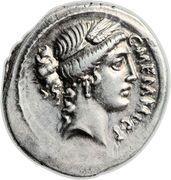 Denarius (Memmia: Gaius Memmius; C•MEMMI•C•F / C•MEMMIVS IMPERATOR) – obverse