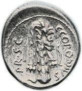 Denarius (Sicinia: Quintus Sicinius; Q•SICINIVS III•VIR / C•COPONIVS PR•S•C) – reverse