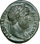 As - Hadrianus (SALVS AVGVSTI COS III) -  obverse