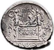 Denarius (Coelia: Gaius Coelius Caldus; C•COEL•CALDVS COS HIS / L•CALDVS VII•VIR•EPVL C•CALDVS I MP•A•X CALDVS•III•VIR) – reverse