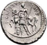 Denarius (Licinia: Publius Licinius Crassus; S•C / P•CRASSVS•M•F) – reverse