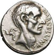 Denarius (Cornelia: Publius Cornelius Lentulus Marcellinus; MARCELLINVS / MARCELLVS COS•QVINQ) – obverse