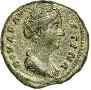 Dupondius - Faustina I (AETERNITAS: Juno) – obverse