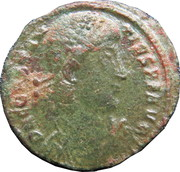 Follis - Constantius II (FEL TEMP REPARATIO with star in right field, star and dot in exergue, Thessalonica mint) – obverse