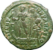 Follis - Constantius II (FEL TEMP REPARATIO with star in right field, star and dot in exergue, Thessalonica mint) – reverse