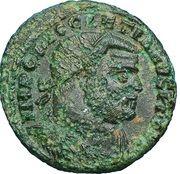 Radiate - Diocletianus (CONCORDIA MILITVM / IMP C DIOCLETIANVS P F AVG, Alexandria mint) – obverse