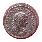Nummus - Constantinus II (BEATA TRANQUILLITAS, Lyons mint, 1st type) – obverse