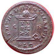 Nummus - Constantinus II (BEATA TRANQUILLITAS, Lyons mint, 1st type) – reverse