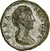 Dupondius - Faustina I (posthumous, DIVA FAVSTINA / CONSECRATIO S C) – obverse