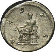 Denier - Julia Domna (VESTA, seated) – reverse