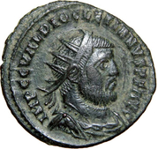 Radiate - Diocletianus (CONCORDIA MILITVM, cuirassed and draped bust, light version, Cyzicus mint) – obverse