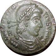Maiorina - Constantius II (CONCORDIA MILITUM) – obverse