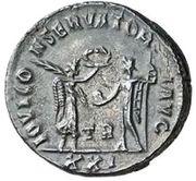 Antoninianus - Diocletianus (IOVI CONSERVATORI AVG, Victory type, Tripolis mint) – reverse