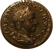 Denarius - Elagabalus (VICTORIA AVG with flying Victory, 4th obverse) – obverse