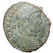 Maiorina - Magnentius (VICTORIAE DD NN AVG ET CAE ° SV, Lyons mint) – obverse