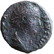 As - Faustina I (AVGVSTA: Vesta) – obverse