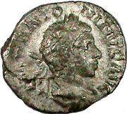 Denarius - Elagabalus (FIDES MILITVM) – obverse