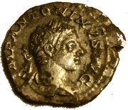 Denarius - Elagabalus (LAETITIA PVBL) – obverse