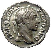 Denarius - Severus Alexander (P M TR P VIII COS III P P) – obverse