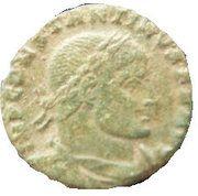 Follis - Constantinus I (SOLI INVICTO COMITI; Arles mint) – obverse