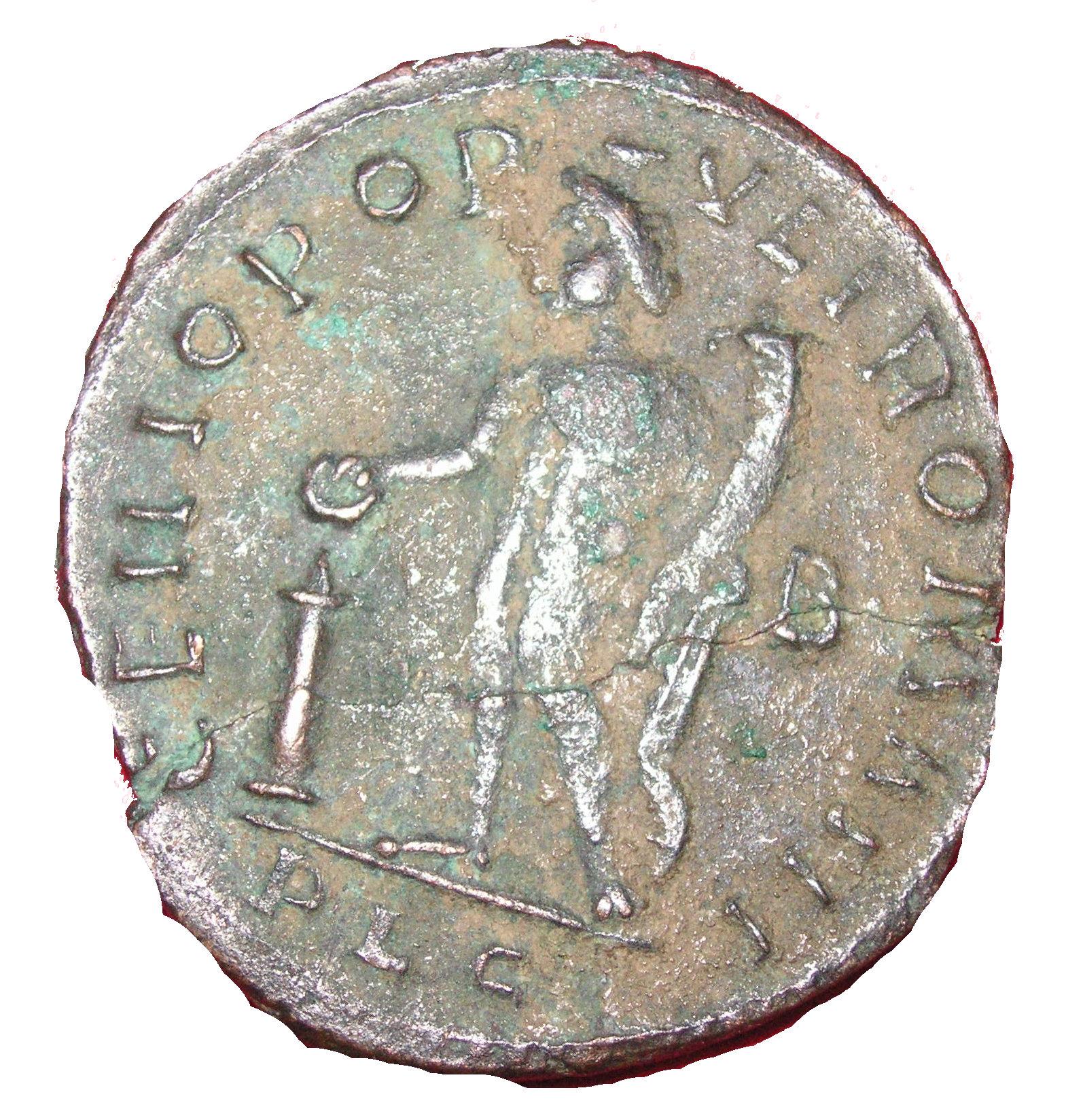 Follis - Maximianus as Caesar (GENIO POPVLI ROMANI