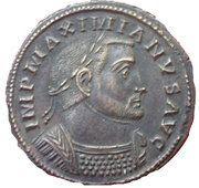 Nummus - Maximianus (GENIO POPVLI ROMANI) – obverse