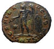 Follis - Galerius (GENIO AVGVSTI, Thessalonica mint) – reverse