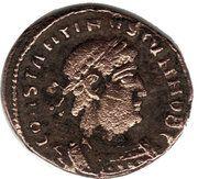 Follis - Constantinus II (GLORIA EXERCITVS; Two standards; Thessalonica) – obverse