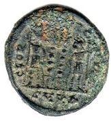 Nummus - Constantinus I (GLORIA EXERCITUS; Cyzicus) – reverse